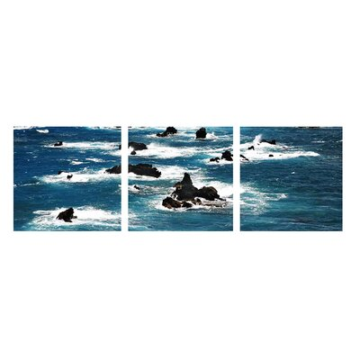 Pacific By Christina Tisi Kramer 3 Piece Photographic Print On Wrapped Canvas Set