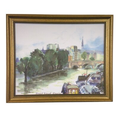 Paris Boats Classic By Jeeyun Lee Framed Painting Print