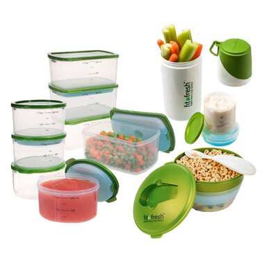 25-Piece Perfect Portion Storage Container Set 349FF