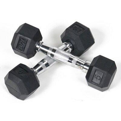 Rent to own Pair of Rubber Coated Hex Dumbbells...