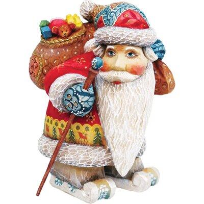 Derevo Downhill Santa Figurine -  G Debrekht, 51786-3