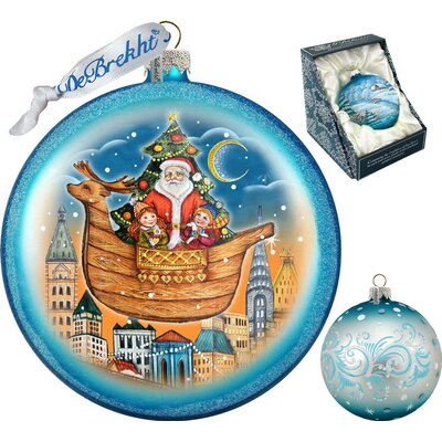 Holiday Christmas Arrival Glass Ornament 744-032R