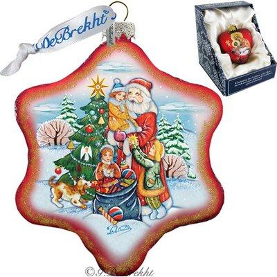 Holiday Holiday Joy Snowflake Glass Ornament 751-004