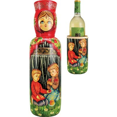 Russia Children 1 Bottle Tabletop Wine Rack