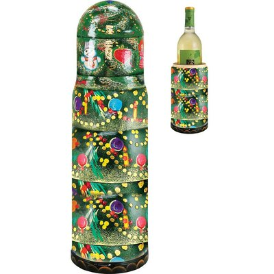 Fifer X-Mas Tree 1 Bottle Tabletop Wine Rack