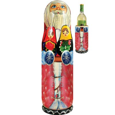 Russia Santa Matroyshka 1 Bottle Tabletop Wine Rack