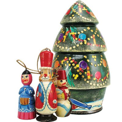Russian Christmas Tree Nested Doll Ornament 110801