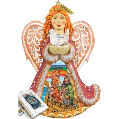 Derevo Noah's Ark Angel Ornament Figurine with Scenic Painting