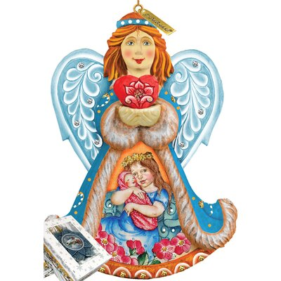 Derevo Cherished Moments Angel Ornament Figurine with Scenic Painting