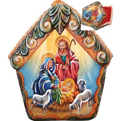 Derevo Nativity Scene Wrapped Wishes Dome Box