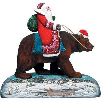 Fifield Grizzly Bear Santa Wood Base 0BCC3AB5CD5C4220B6AB11F6E9BD2650
