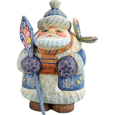 Derevo Butterfly Wishes Santa Figurine