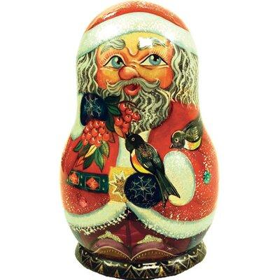 Russia 5 Piece Birdy Santa Nested Doll Set