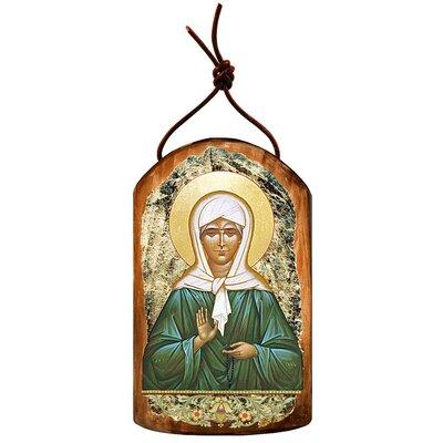 Inspirational Icon Matrona Plaque Wooden Ornament 87048