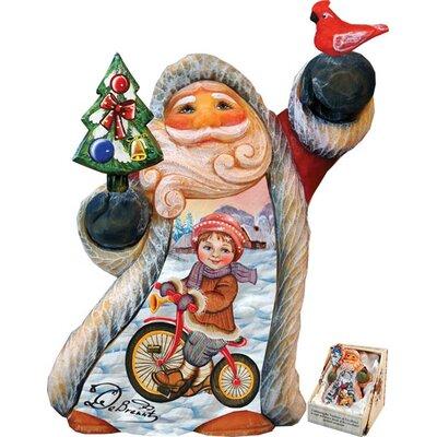 Derevo Fun Rider Tiny Tale Santa Figurine 561622