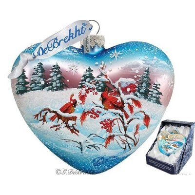Winter Birds Heart Ornament