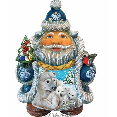 Derevo Illustrated Santa with Polar Bear and Cubs Figurine 533422