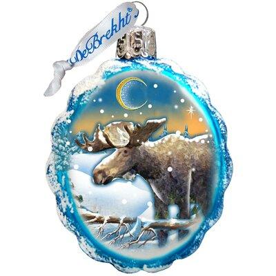 Keepsake Moose Glass Ornament 771025
