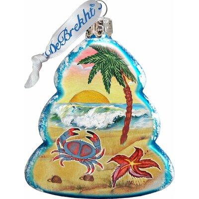 Keepsake Tree Crab Coastal Glass Ornament 776277