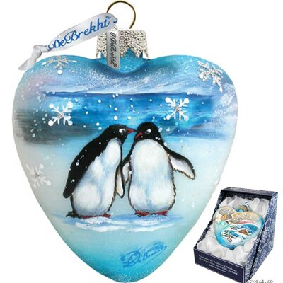 Penguins Pals Heart Ornament