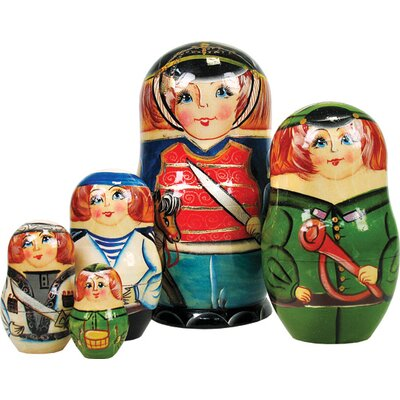 Russian 5 Piece Nutcracker Prince Nested Doll Set 1301151