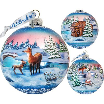 Holiday Limited Edition Snowy Night Glass Ball Ornament