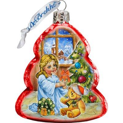 Keepsake Nativity Santa Angel Glass Ornament