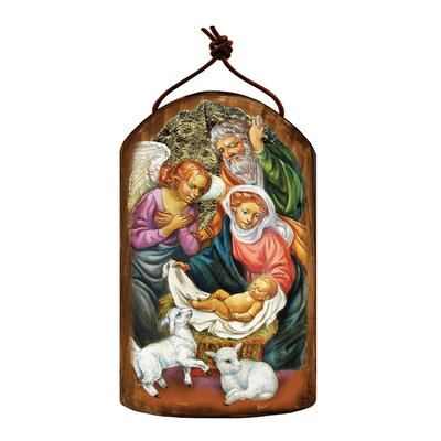 Inspirational Icon The Holy Family Wooden Ornament 87020