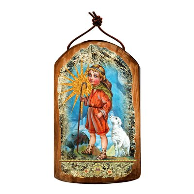 Inspirational Icon Shepherd Wooden Ornament 87045