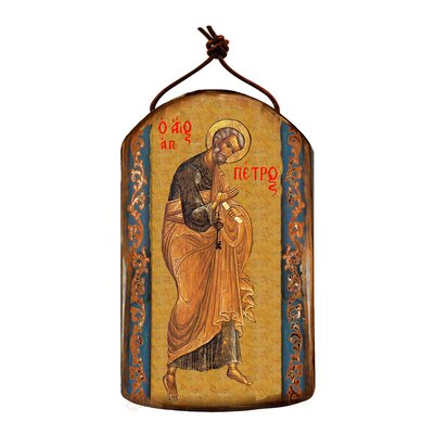 Inspirational Icon Saint Peter Wooden Ornament 87042