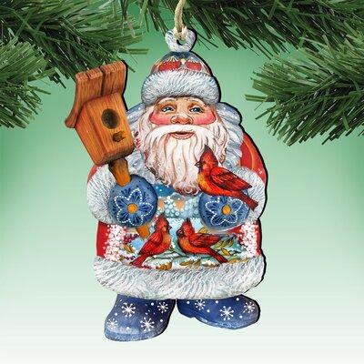 Deco Welcome Home Birdie Santa Ornament