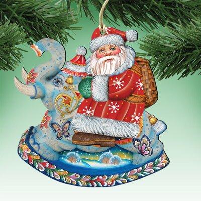 Deco Santa on Elephant Hanging Figurine 8111380