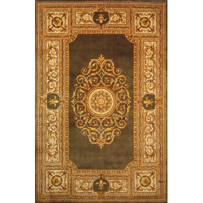 Gansevoort Hand-Tufted Green Area Rug Rug Size: Rectangle 26 x 43
