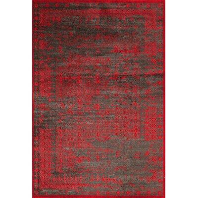 Charleena Red Area Rug Rug Size: 18 x 27