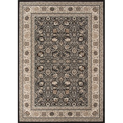 Mira Monte Charcoal Area Rug Rug Size: Rectangle 3'3