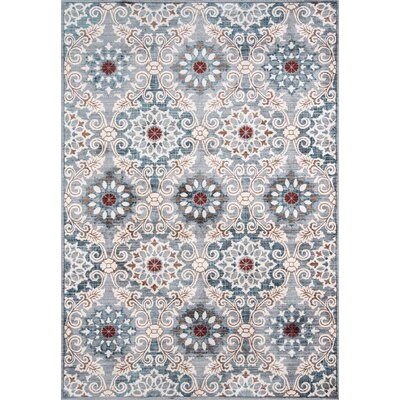 Burnley Blue Area Rug Rug Size: 3'3