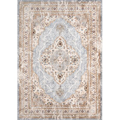 Aldine Blue Area Rug Rug Size: Rectangle 92 x 132