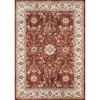 Burnley Rust Area Rug Rug Size: 92 x 132