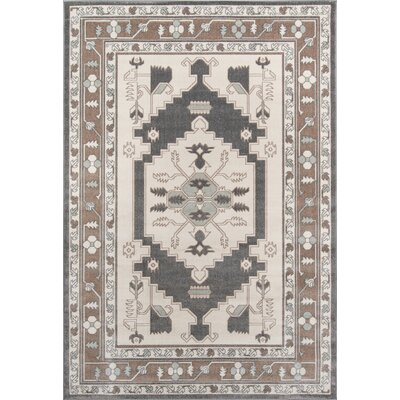 Kari Beige Indoor/Outdoor Area Rug Rug Size: 53 x 76