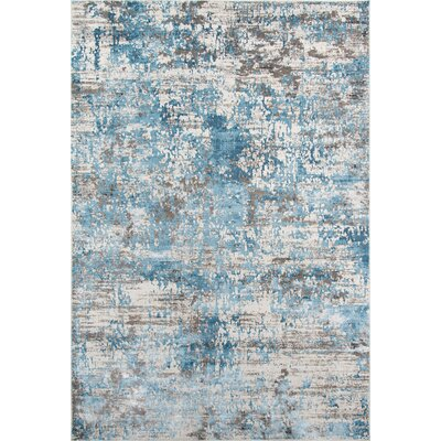 Hampson Blue Area Rug Rug Size: Rectangle 76 x 96