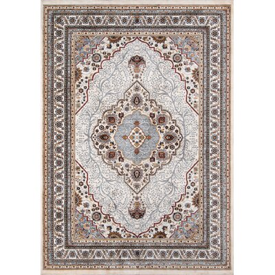 Aldine Ivory Area Rug Rug Size: Rectangle 92 x 132