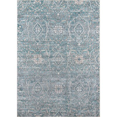 Annet Blue Area Rug Rug Size: Rectangle 93 x 126