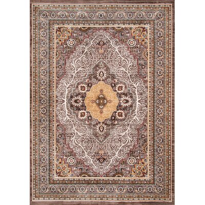 Aldine Brown Area Rug Rug Size: 92 x 132