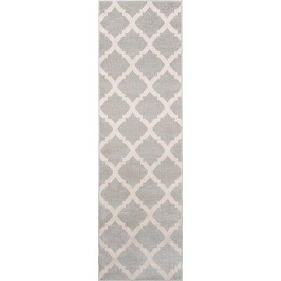 Ardon Gray Indoor/Outdoor Area Rug Rug Size: Runner 23 x 76
