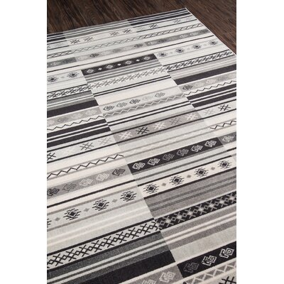 Kari Charcoal Indoor/Outdoor Area Rug Rug Size: Rectangle 2 x 3