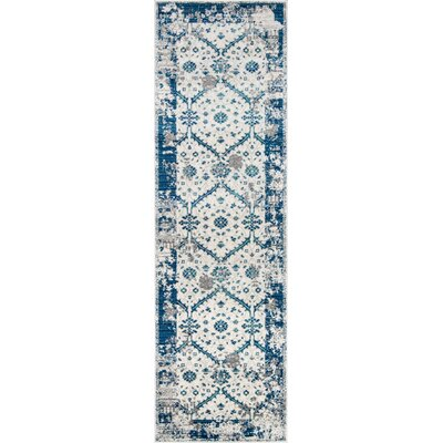 Chacon Blue Indoor/Outdoor Area Rug Rug Size: Runner 23 x 76