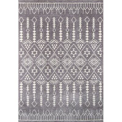 Rundell Gray Area Rug Rug Size: Rectangle 93 x 126