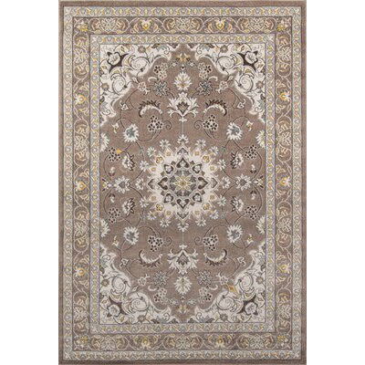 Burrows Brown Indoor/Outdoor Area Rug Rug Size: 53 x 76