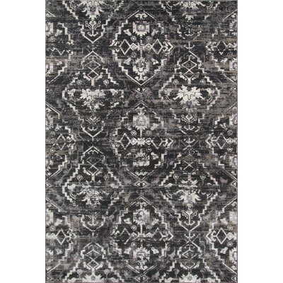 Ronin Charcoal Area Rug Rug Size: Rectangle 2 x 3