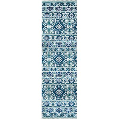 Glouscester Blue Indoor/Outdoor Area Rug Rug Size: Runner 23 x 76